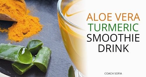 Aloe vera and turmeric drink