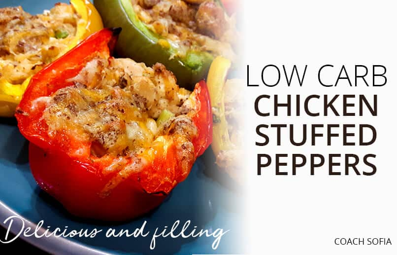 delicious low carb chicken stuffed peppers