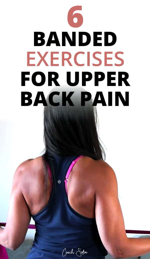 6 Resistance band exercises for upper back pain