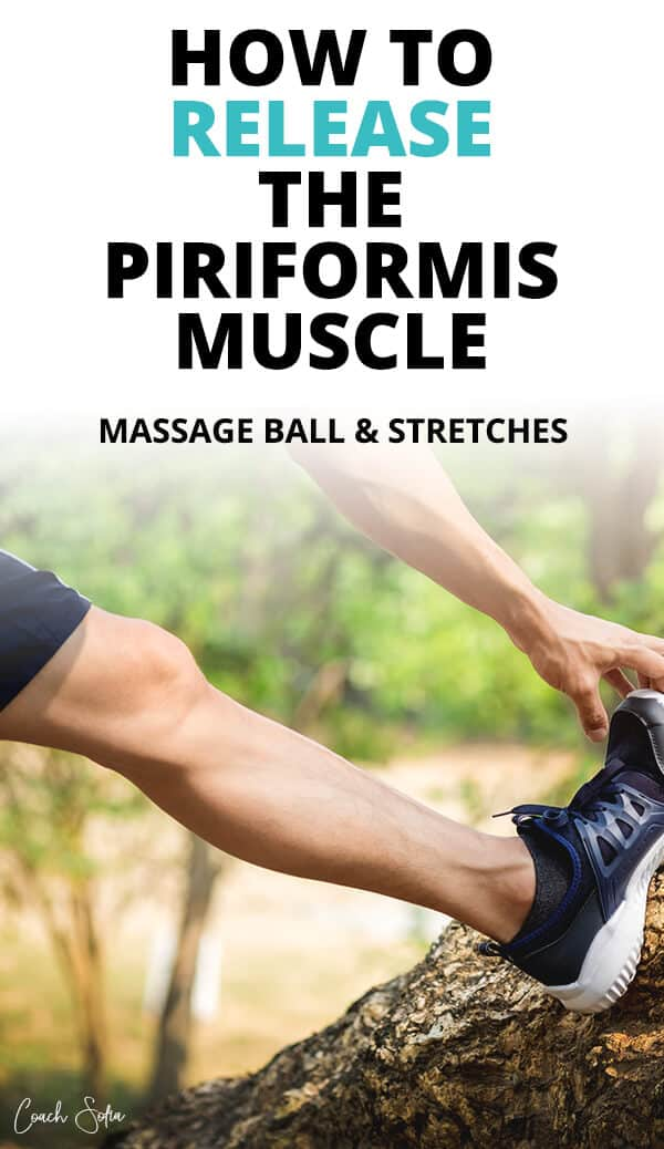 piriformis release massage ball and stretches