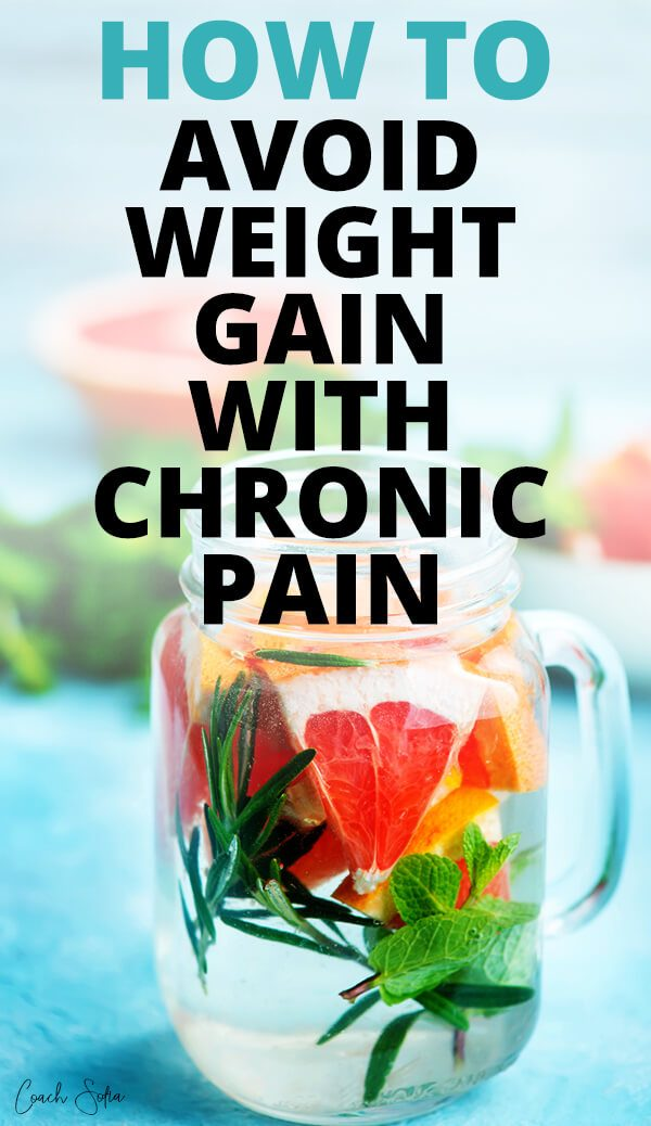 How to avoid weight gain with chronic pain