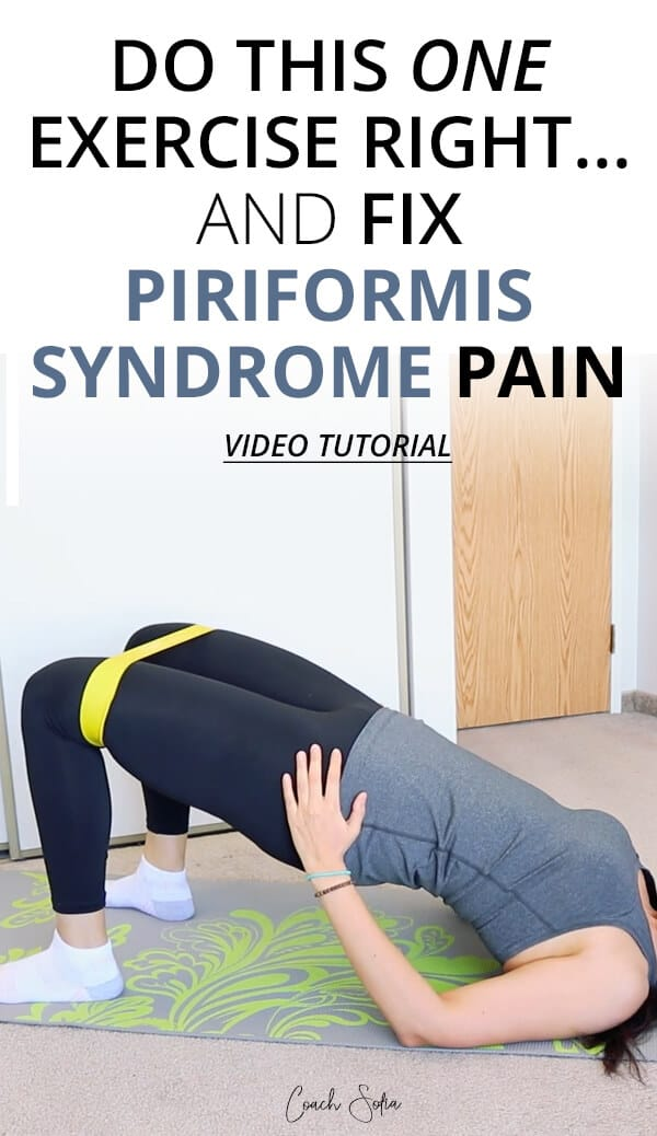 Exercise for piriformis syndrome pain