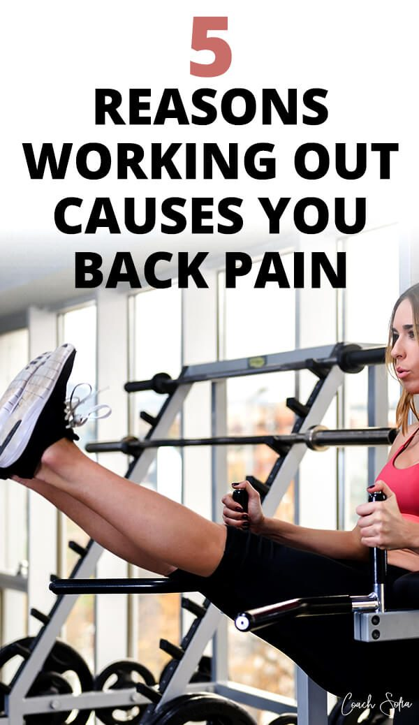 lower back pain after workout