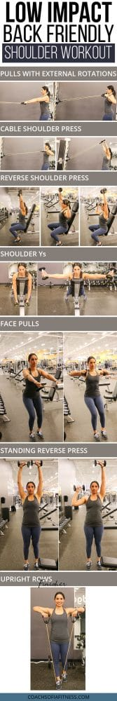 low impact back friendly shoulder workout