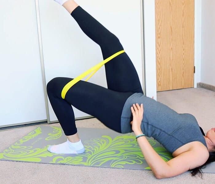 one-legged bridge exercise