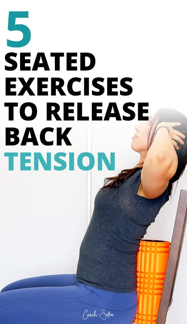Seated chair exercises for back pain