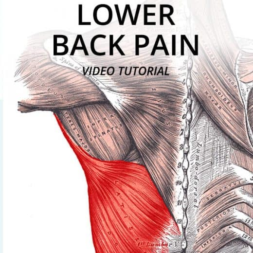 latissimus dorsi release to get relief from lower back pain