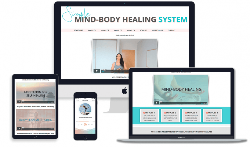 Mind-bdoy healing program to heal from chronic back pain, piriformis syndrome and rewire the nervous system to feel pain-free again!