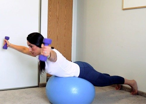 Ball Combo exercises to fix rounded shoulders